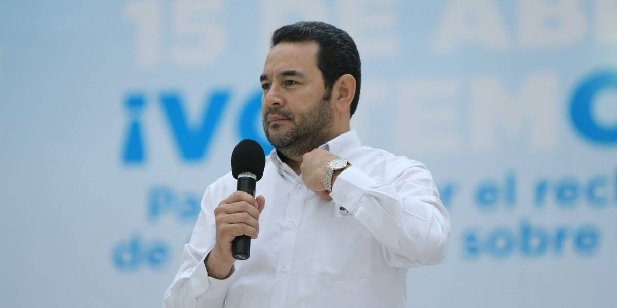 """Presidente Morales: """"Guatemala no está dispuesta a perder un centímetro más"""""""