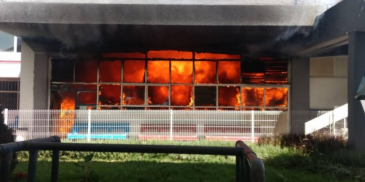 Se quema el gimnasio del Code Paradero, desalojan a atletas y personal