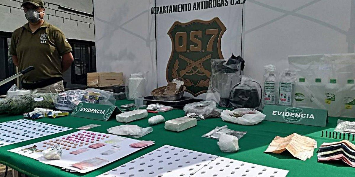 OS-7 de Carabineros desarticuló una organización internacional de narcotraficantes que operaba en Santiago