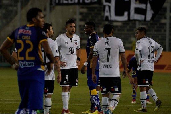 Colo Colo se lamentó en el Monumental / imagen: Agencia UNO