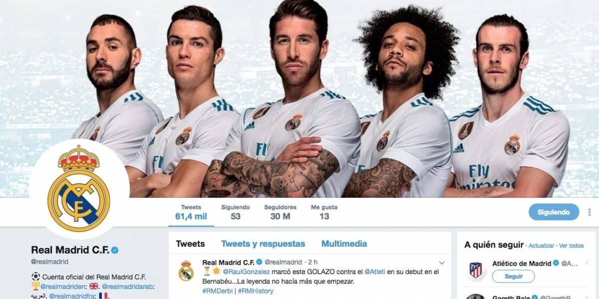 La cuenta del Real Madrid es la más seguida en Twitter