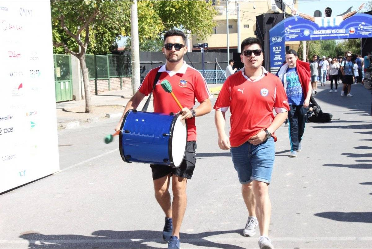 La barra chilena se hizo sentir en San Juan / imagen: Secretaría de Deportes de San Juan