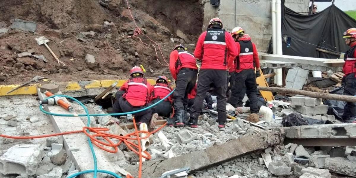 Un fallecido tras colapso de un muro el sector del Puente 2