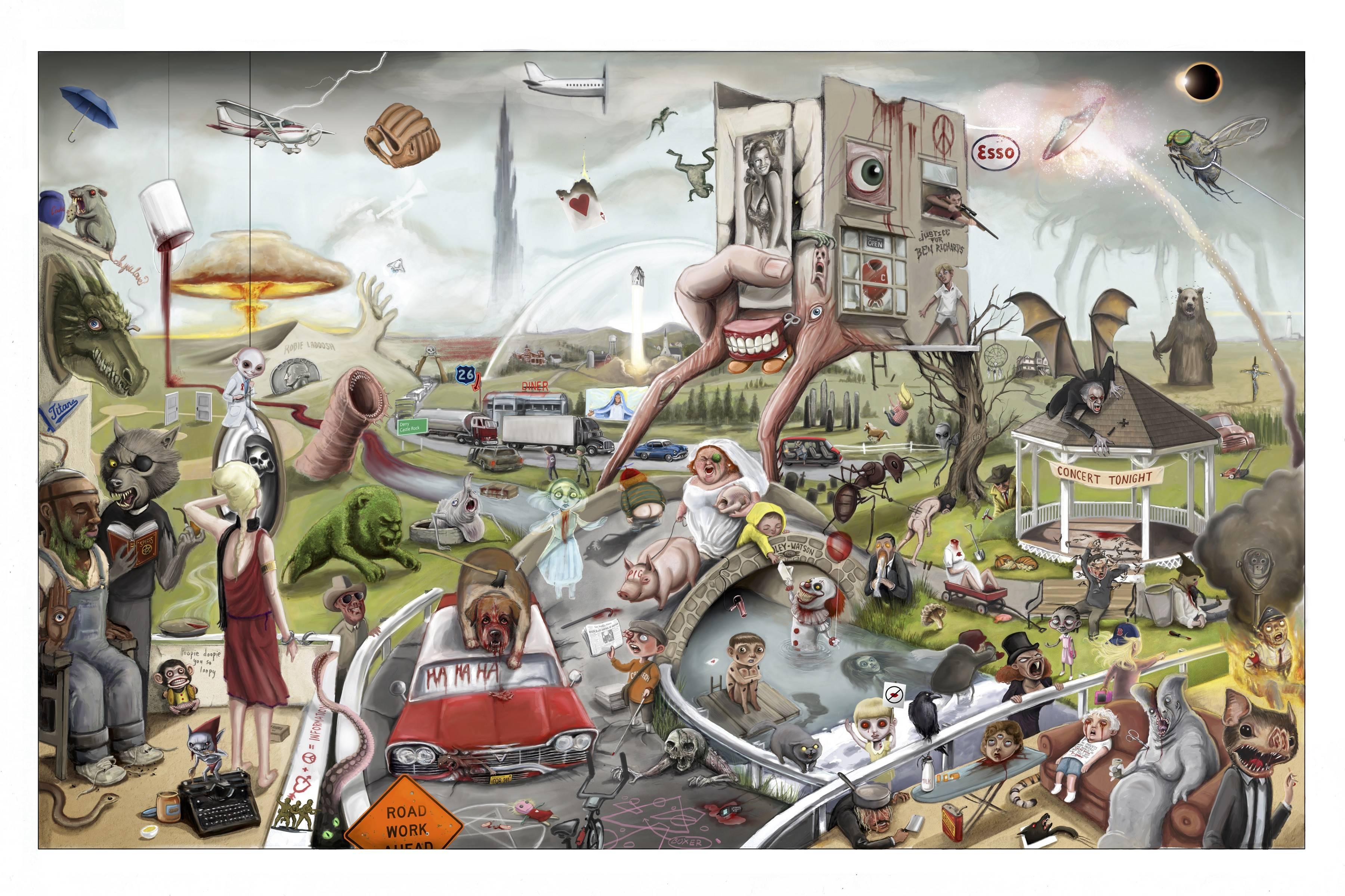 Casi 200 referencias sobre Stephen King se encuentran en esta imagen, ¿puedes encontrarlas todas?