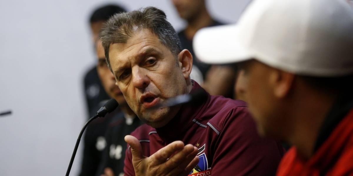 """Mosa no descartó una renuncia si Guede se iba de Colo Colo: """"Era una alternativa, una posibilidad"""""""