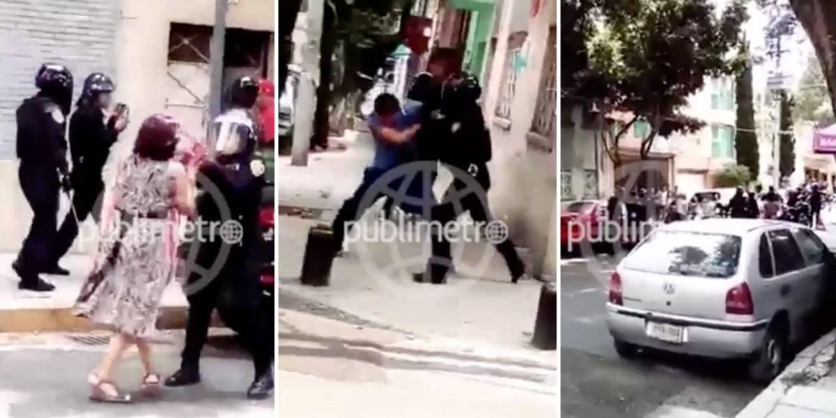 Denuncian brutalidad policiaca en la delegación Cuauhtémoc