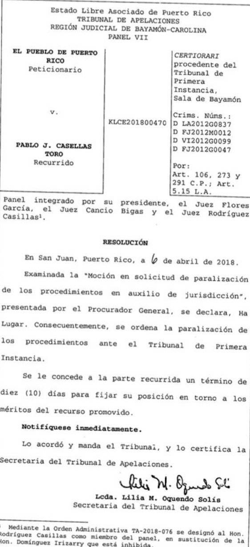 documento tribunal