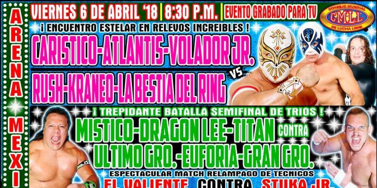 Carístico buscará derrotar a Rush en la Arena México