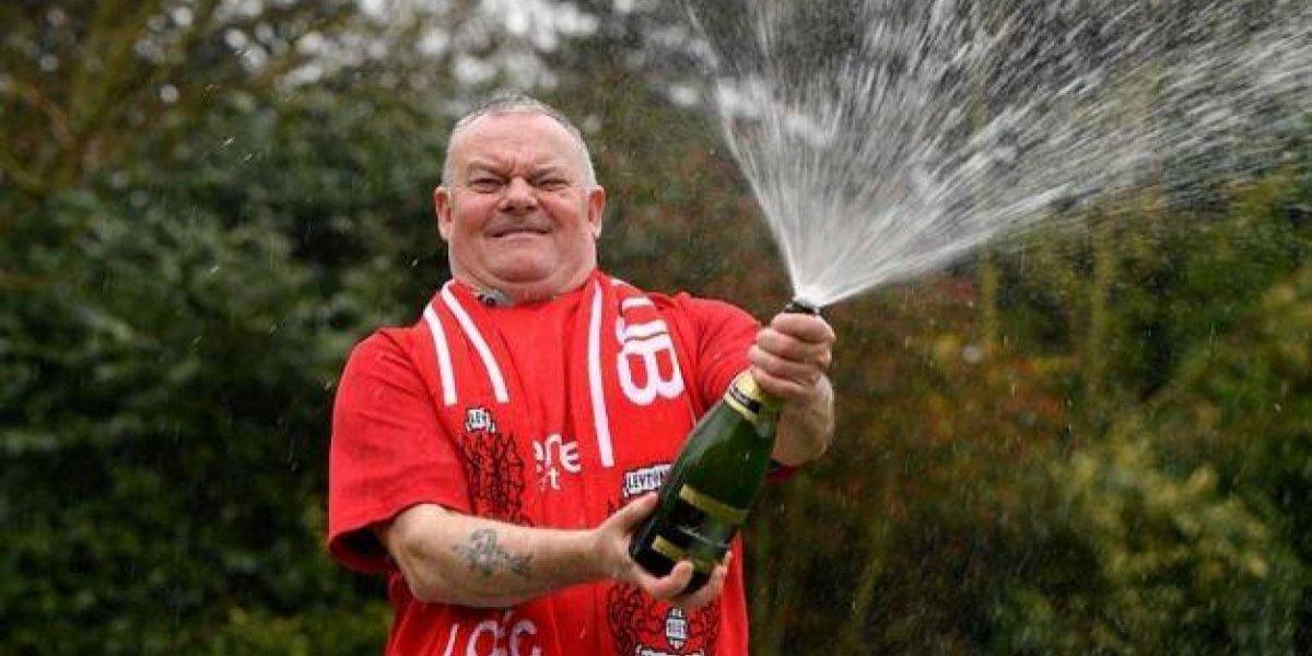 Equipo de la quinta división de Inglaterra hace millonario a un fanático