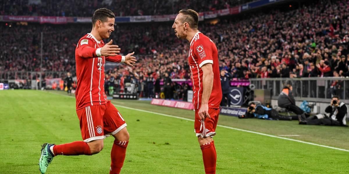 El Bayern de James, a un punto del título, visita al Augsburgo