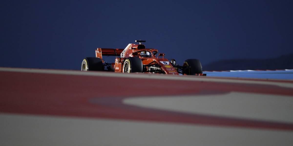 """Ferrari hace el """"1-2"""" y Vettel conquista la pole position en el GP de Bahrein"""
