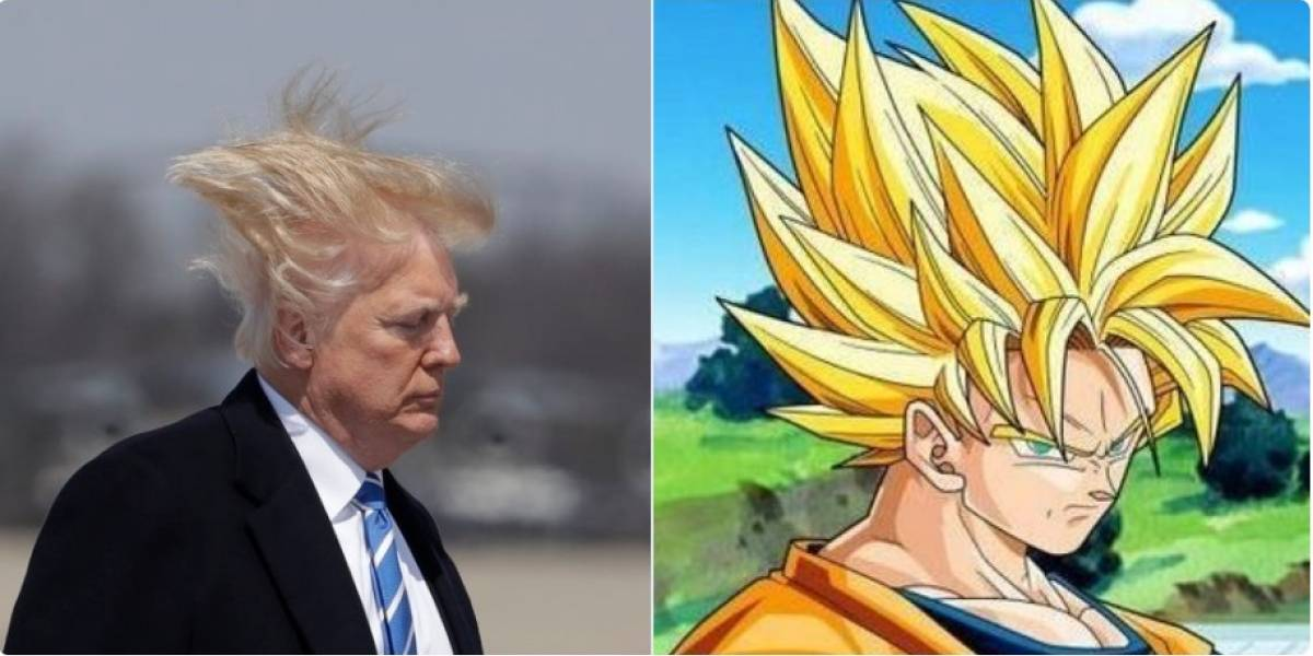 VIDEO. Cibernautas comparan el pelo de Donald Trump con Gokú