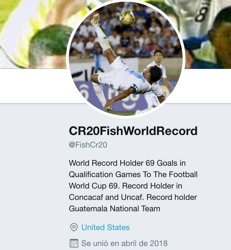 Perfil de la nueva cuenta de Twitter de Carlos Ruiz.