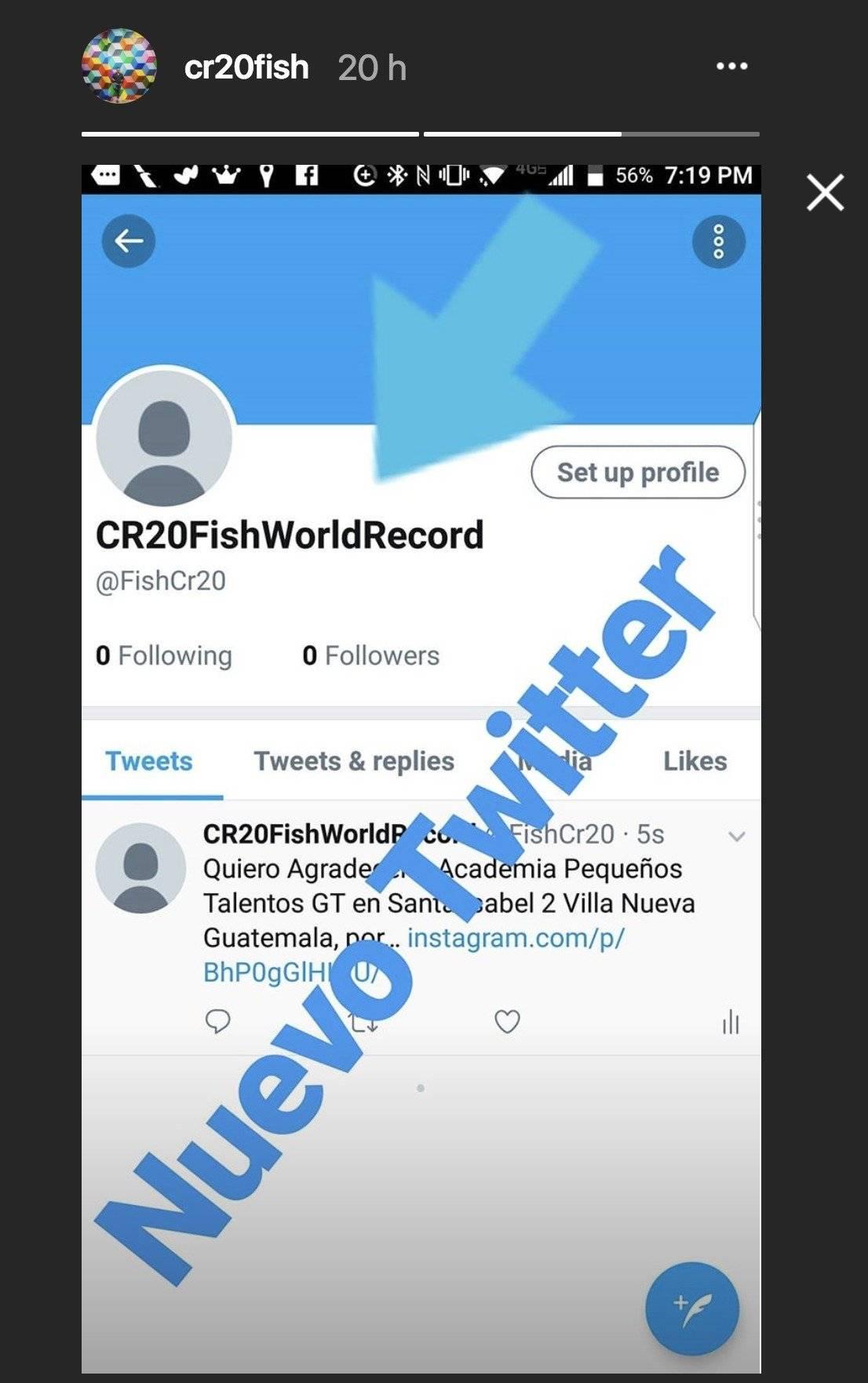 Ruiz hizo el anuncio en una historia en su cuenta de Instagram.
