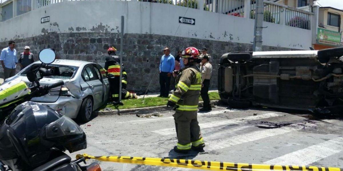 Quito: se registró accidente de tránsito en el sector de la Primavera, Tumbaco