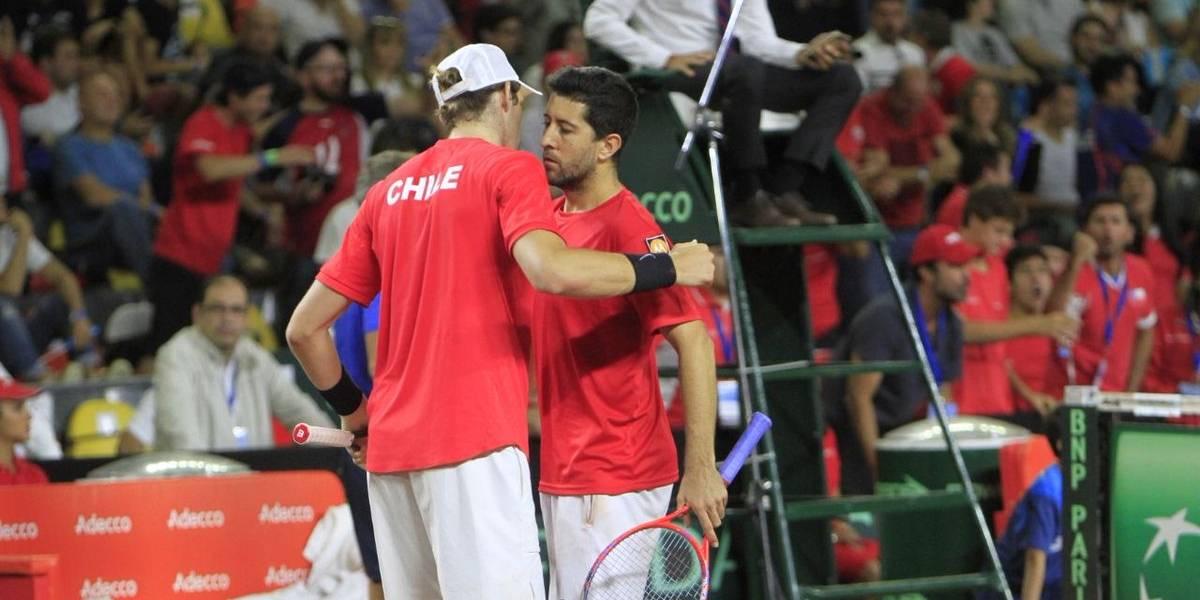Jarry y Podlipnik lograron un triunfazo en el dobles y dejan a Chile a un punto de la hazaña ante Argentina