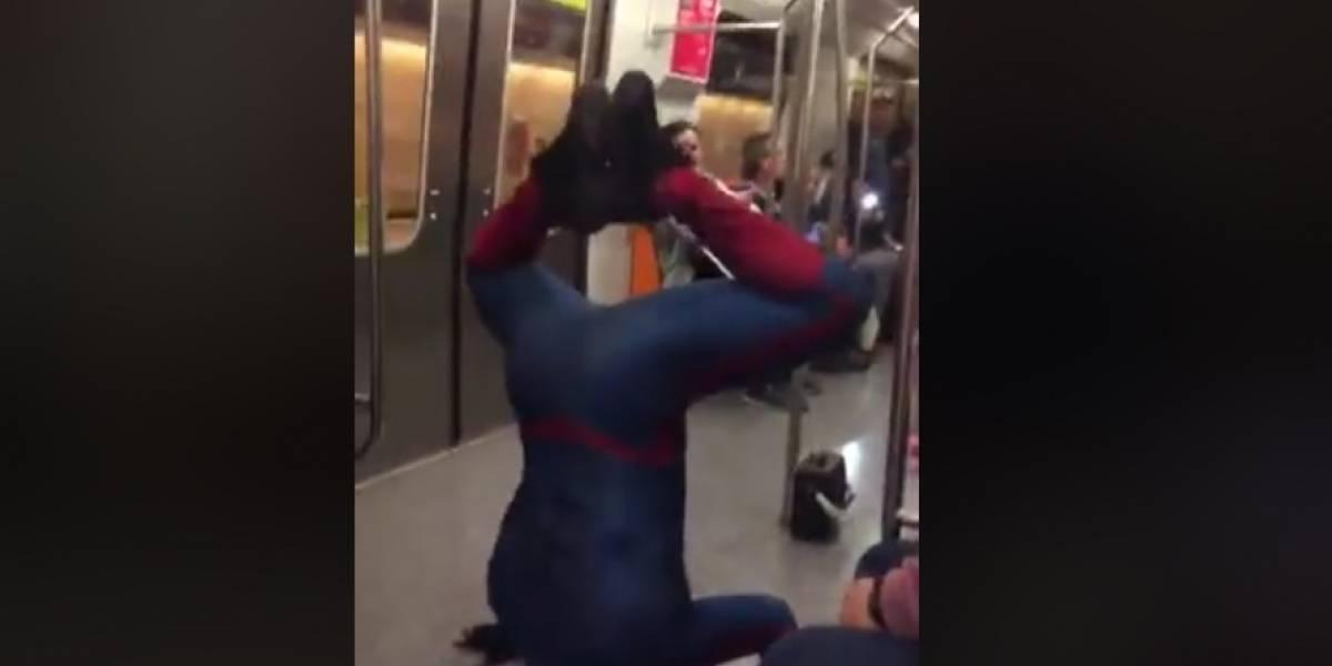 Se mueren de la risa con este Hombre Araña