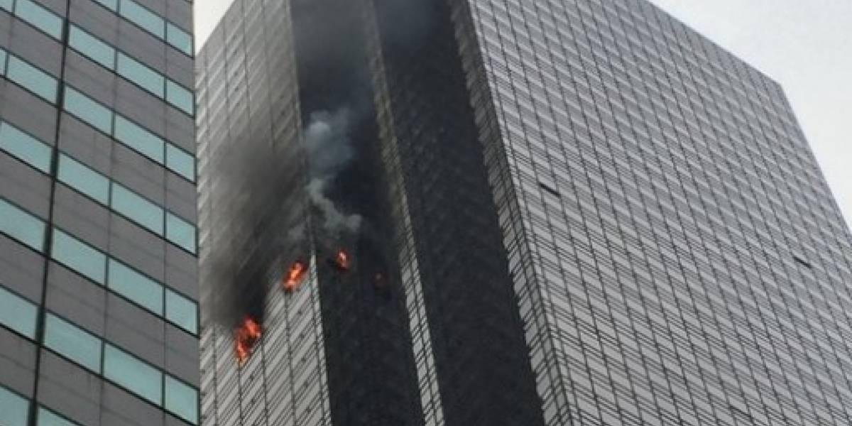 Fuego en el edificio de Trump en Nueva York