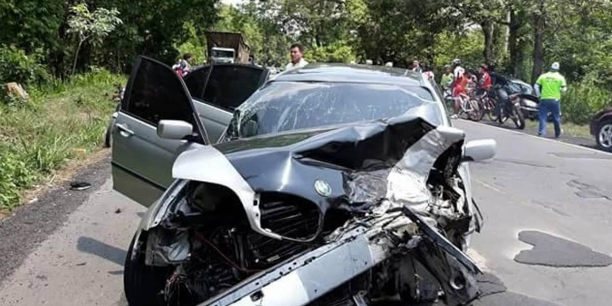 Automovilista atropella a ciclista Prudencio Saban