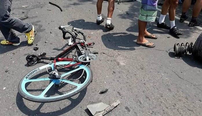 La bicicleta fue destruida.