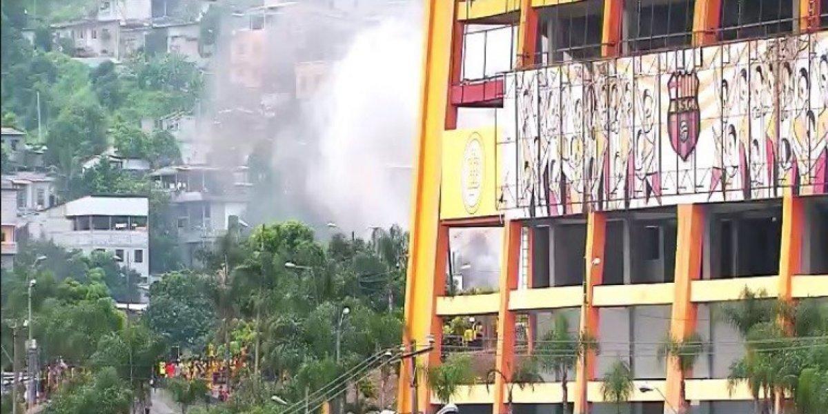 Se registró incendio vehicular durante el Clásico del Astillero