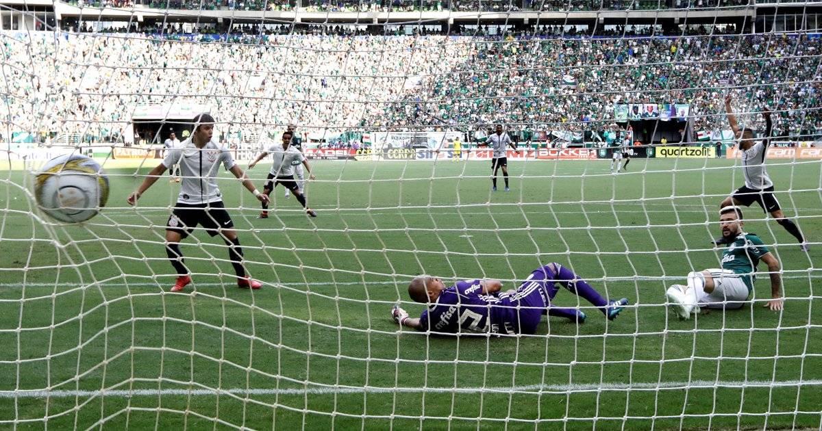 Rodriguinho marcou o gol para o Corinthians Paulo Whitaker/Reuters