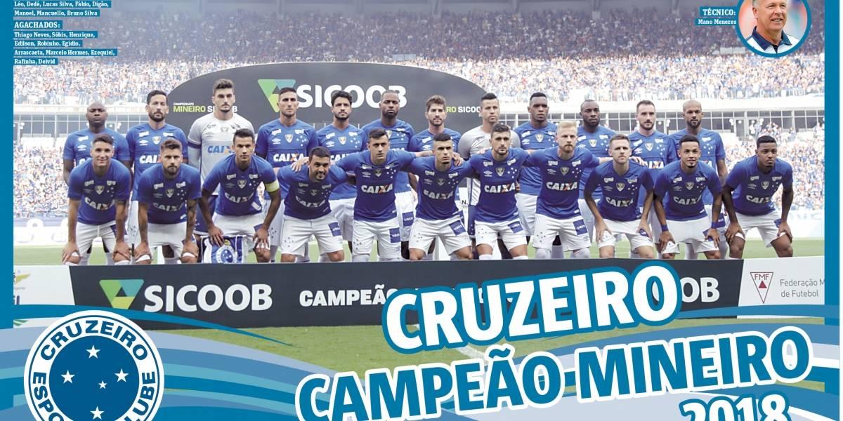Baixe o pôster do Cruzeiro campeão mineiro de 2018