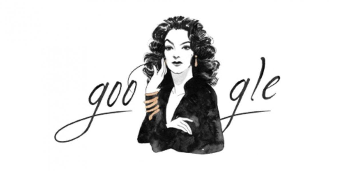 """Google festeja cumpleaños 104 de """"La Doña"""" María Félix con doodle"""