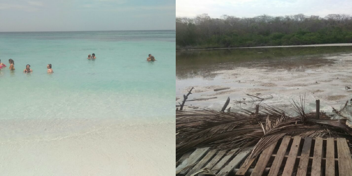 Las dos caras de Playa Blanca, en isla Barú