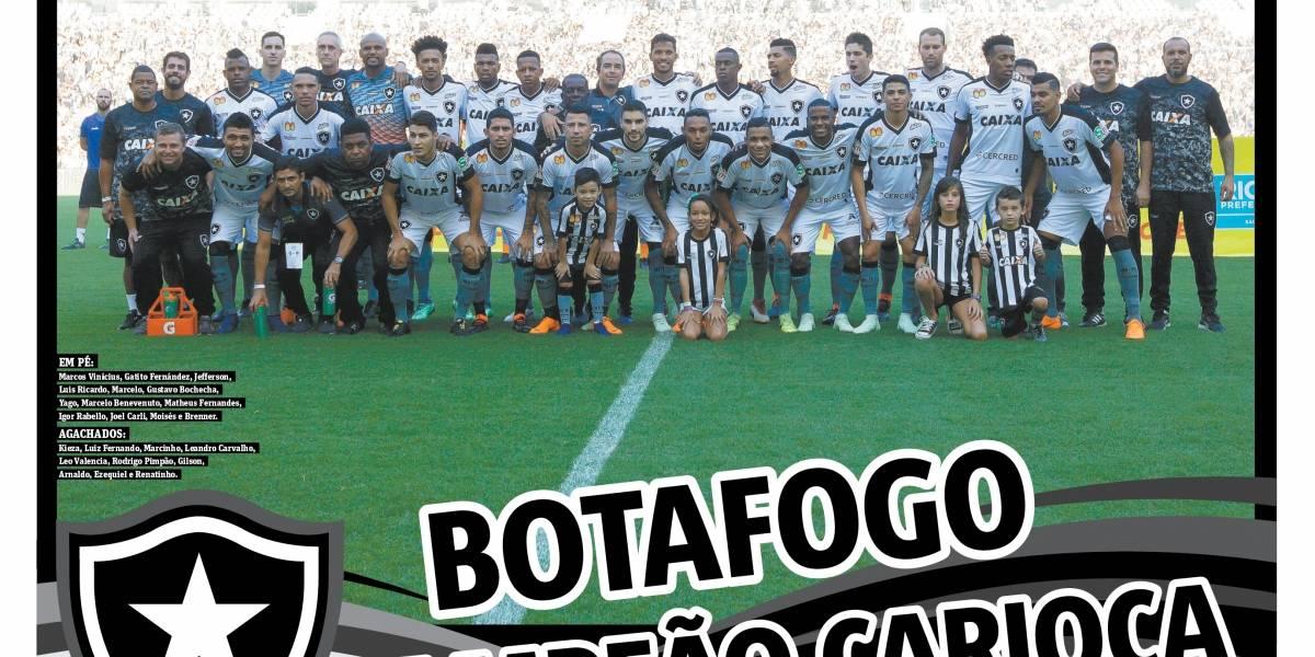 Baixe o pôster do Botafogo campeão carioca de 2018