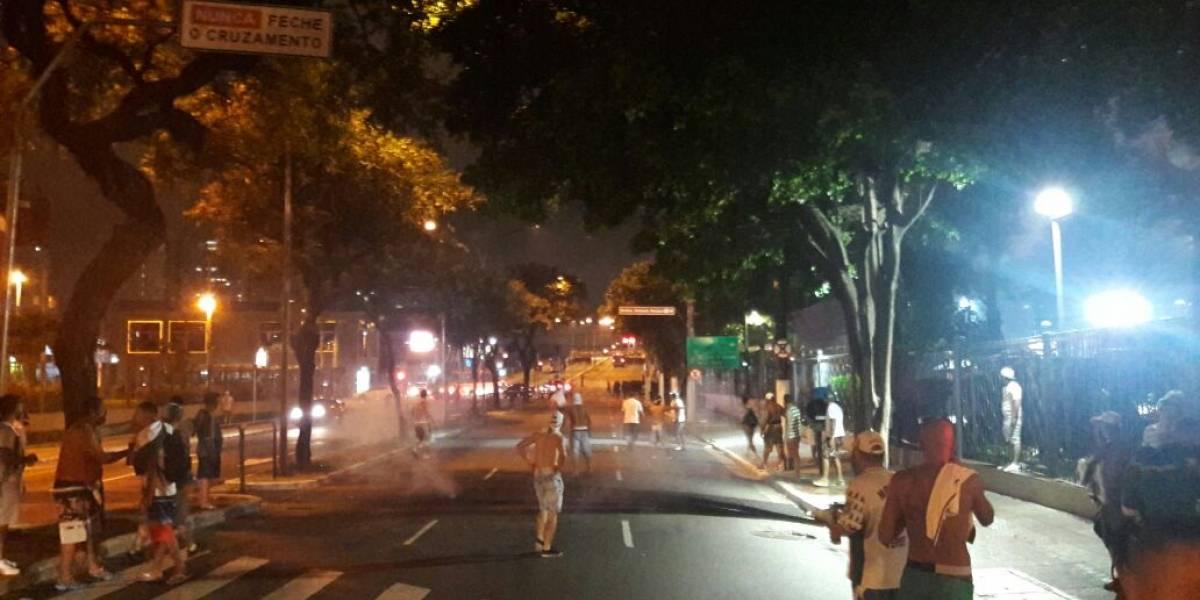 Palmeirenses entram em confronto com a polícia após derrota no clássico