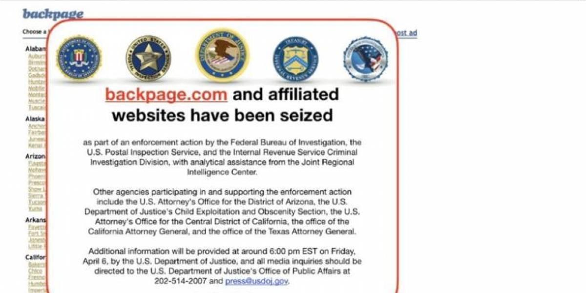 EE.UU acusa a web de lavar 500 millones dólares vinculados a prostitución