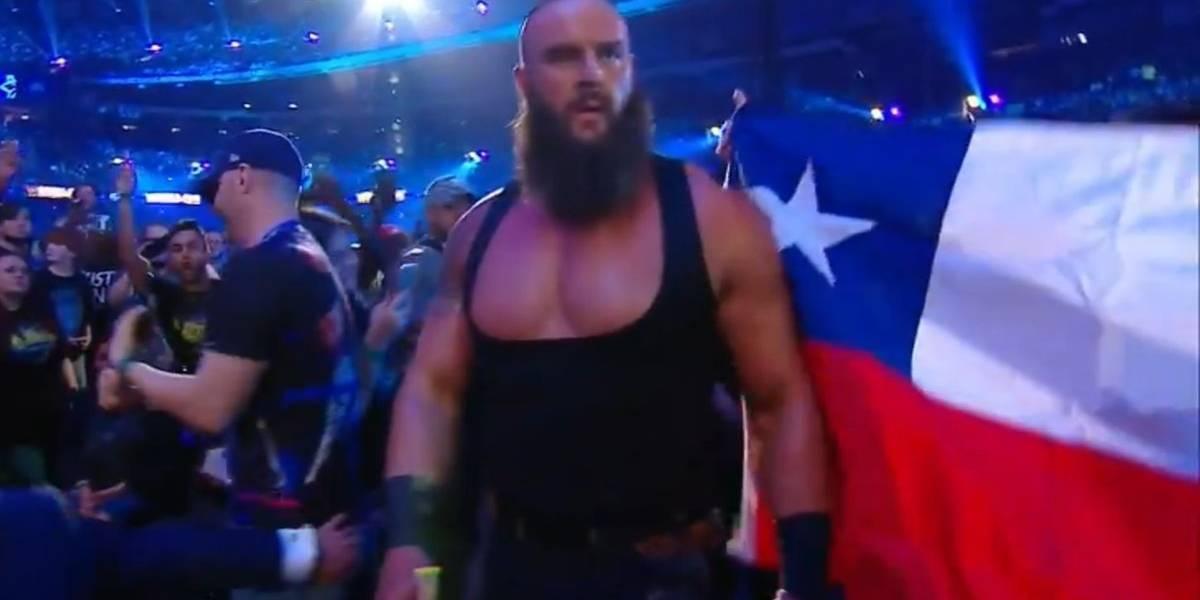 Chile se tomó Wrestlemania 34: las banderas chilenas invadieron el Superdome de New Orleans