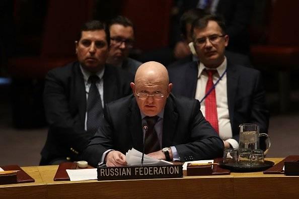 El embajador ruso ante Naciones Unidas, Vassily Nebenzia.