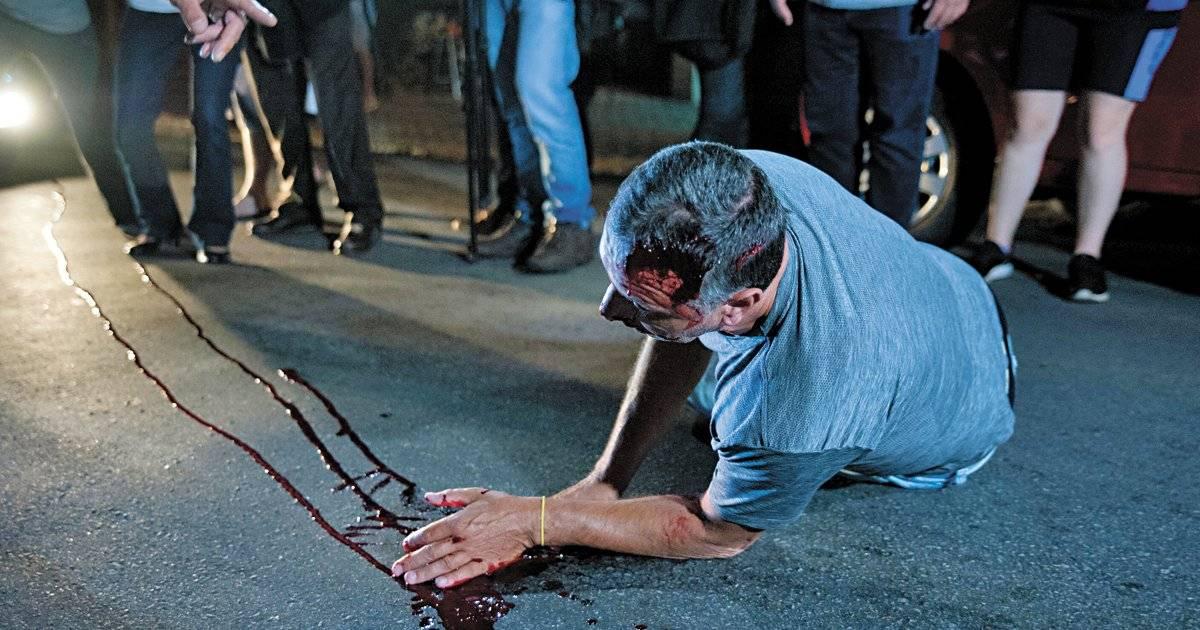 Empresário ficou ferido após ser empurrado | Rogério Gomes/Brazil Photo Press