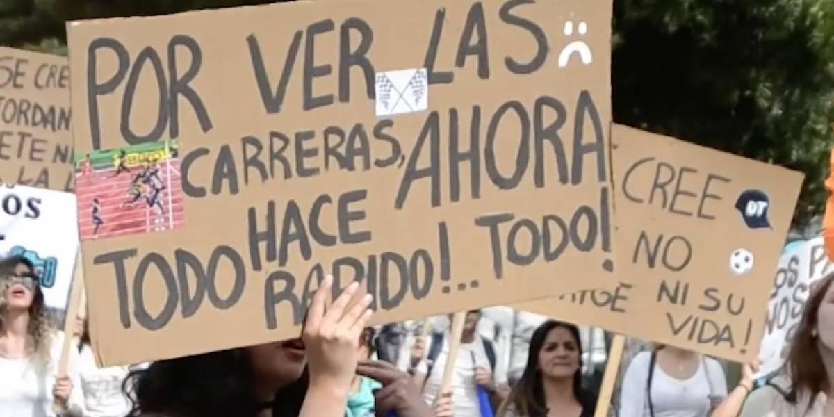 Fox Sports Ecuador sorprende a Quito con 'marcha contra el deporte'