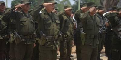 acto oficial de retiro del Ejército de seguridad ciudadana