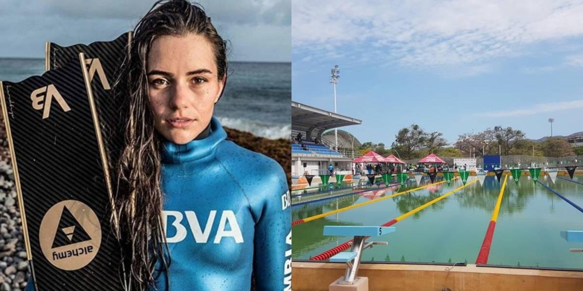 Sofía Gómez criticó el vergonzoso estado de piscina en Juegos Bolivarianos de Santa Marta