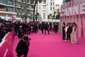 Alfombra rosa en Cannes.