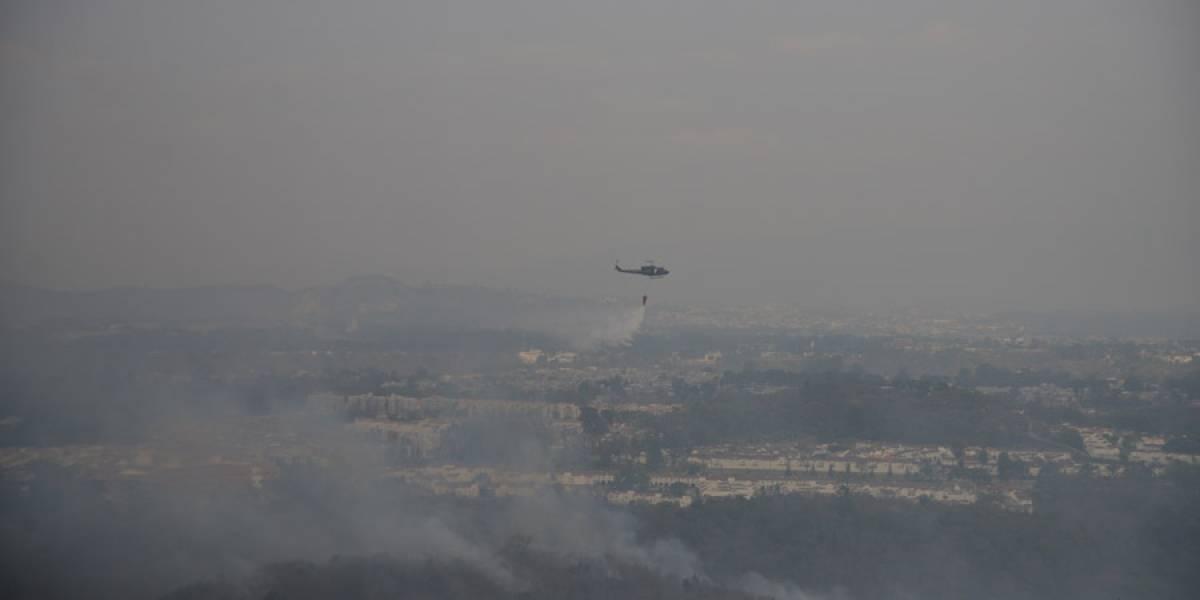 Incendio forestal arrasa con 18 hectáreas en Mixco