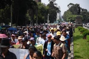 manifestación contra la minería