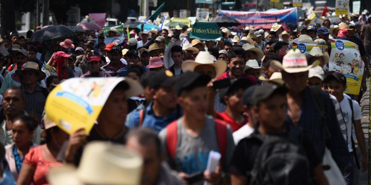 """Con marcha en la capital, pobladores dicen """"no a la minería"""""""