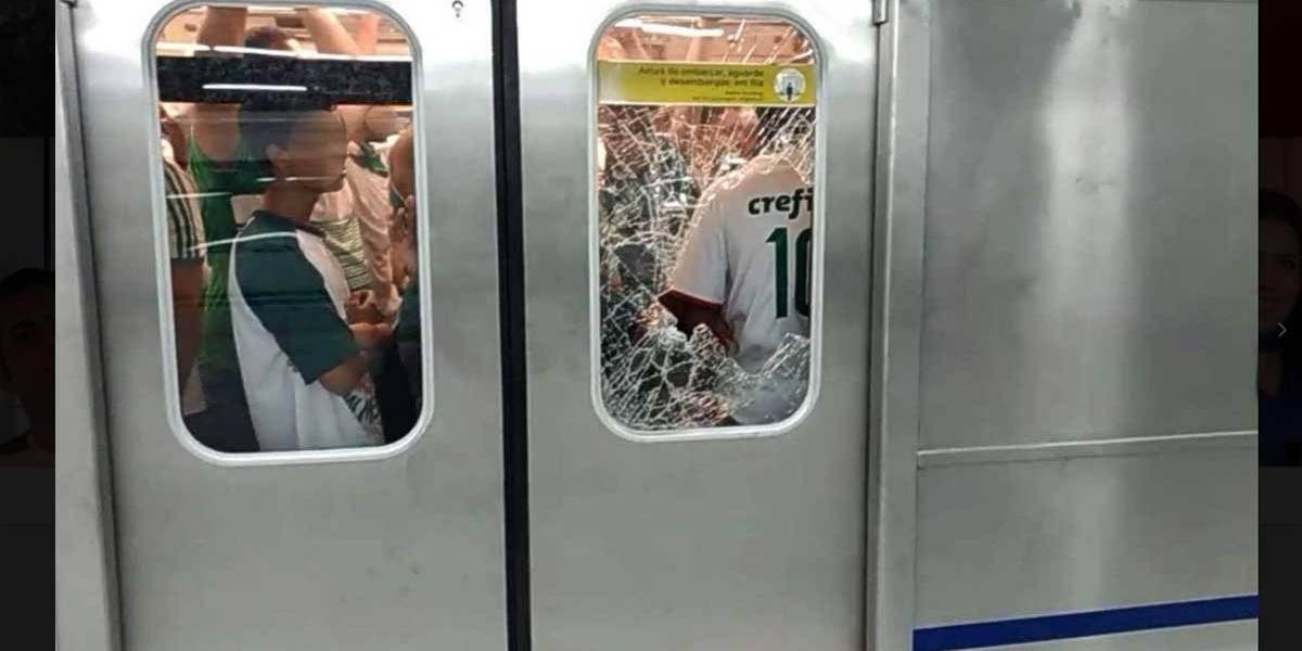 Metrô avalia danos causados por palmeirenses após final do Paulista