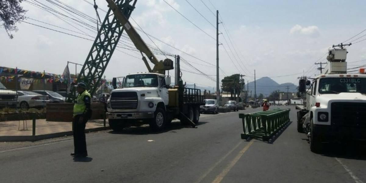 Obras en la vía pública complican el tránsito hacia San Miguel Petapa y Villa Nueva