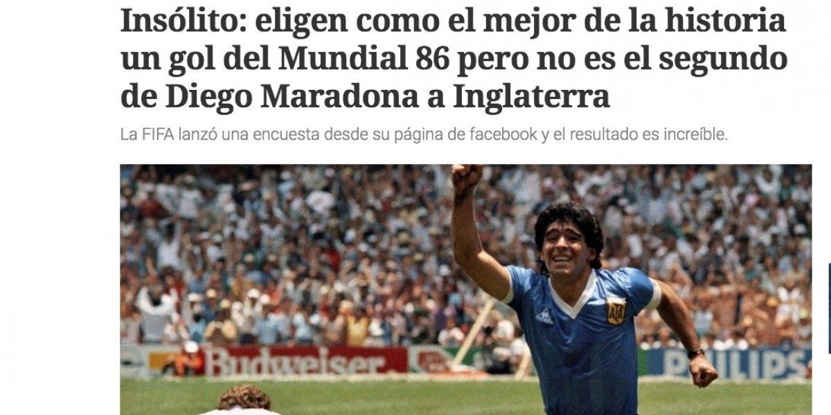 Causa indignación en Argentina el premio al gol de Manuel Negrete