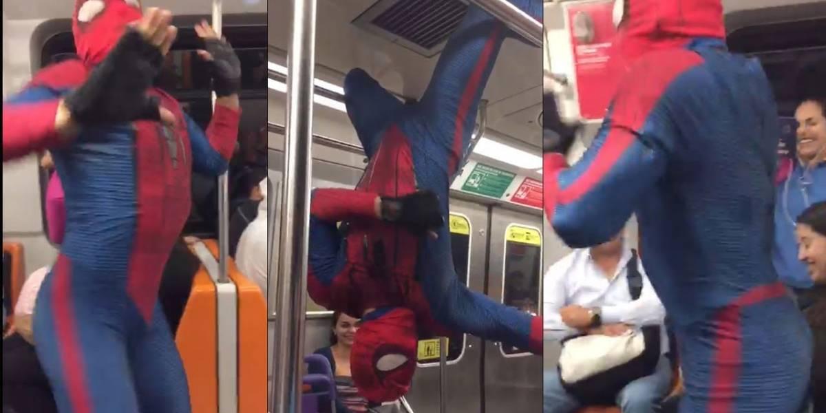 """""""Spiderman"""" que baila en metro de Chile cautivó a Daddy Yankee con el #Durachallenge"""