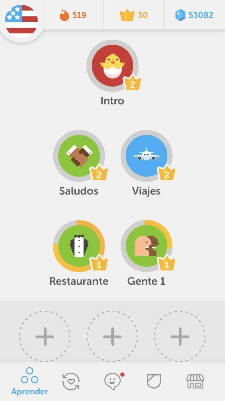 App idiomas Duolingo