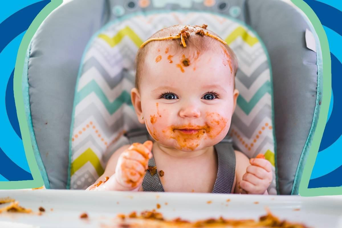 Baby Weint Beim Brei Essen
