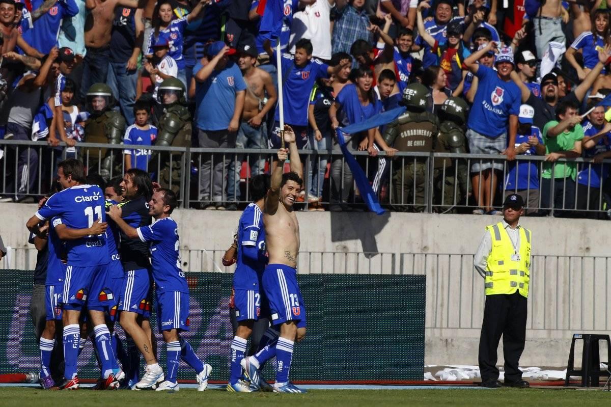 La U celebró en casa el triunfo ante Colo Colo / Photosport