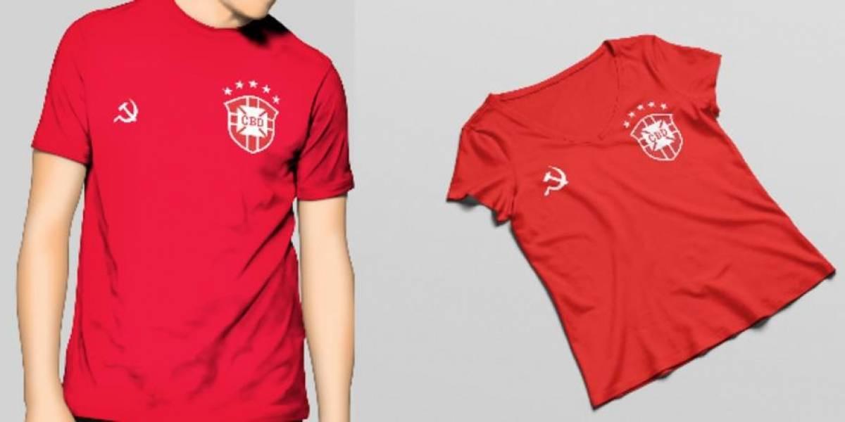 Designer cria camisa da Seleção 'alternativa' para esquerdistas
